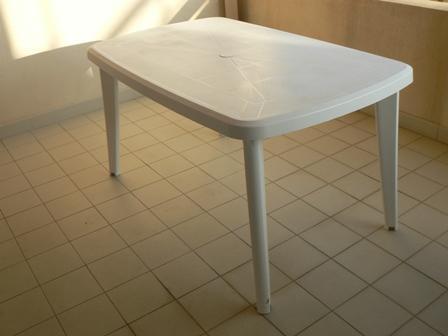 Table Plastique Blanc 140 X 85 Cm 10 Vente Cause D Part