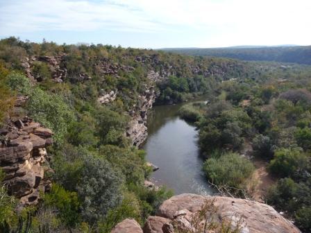 Uitzicht bij de bushmen paintings