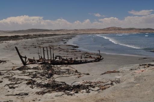 Exploring the Coast - Ship Wreck beyond Dias Point
