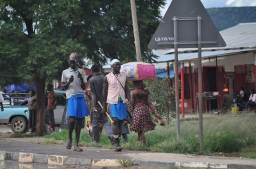 18 Himba Men in Opuwa main street