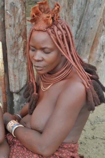 21 Himba lady - they have to wear the head dress.