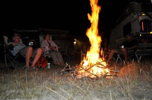 12 Wild Camp fire Botswana