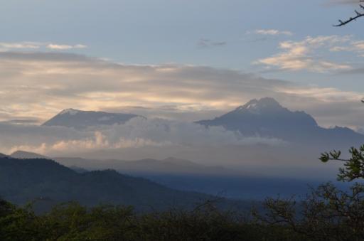 View of Kili from Lake Chala (2)