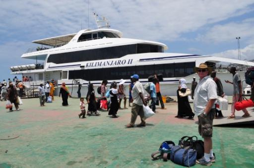 The Zanzibar ferry  but we never got through customs!