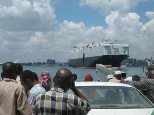 Traffic jam onthe ferry - Dar es Salaam