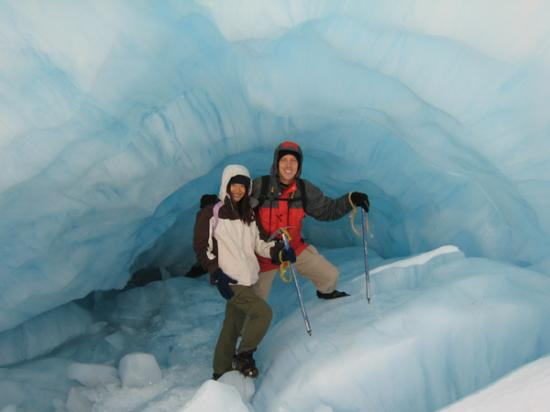 First blue ice cave