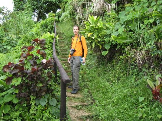 Mark hikes Bouma