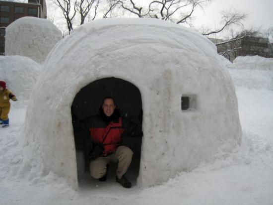 Mark in igloo
