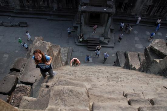 Terry Climbs Angkor Wat