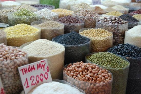 Grains at the market