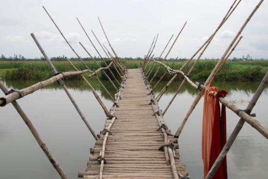 Small bamboo bridge