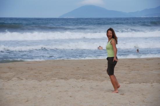 Terry on the beach