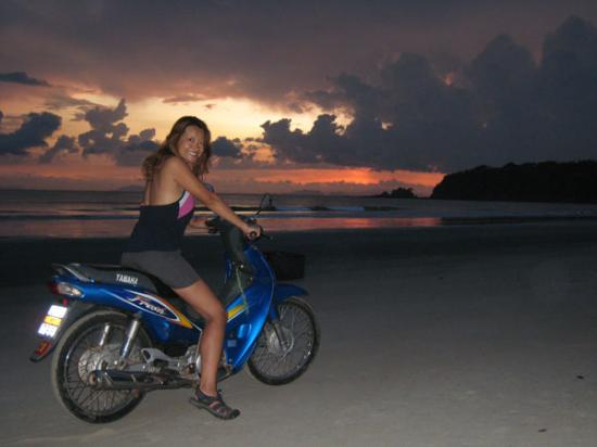 Sunset motorbike ride