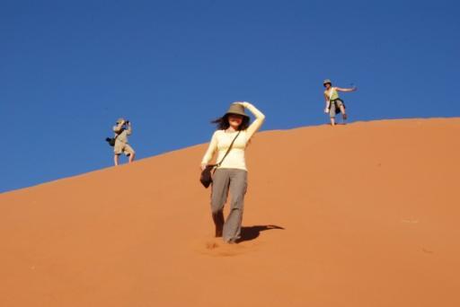Terry descends Dune 45