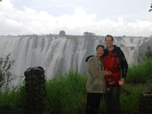 Drenched at Victoria Falls