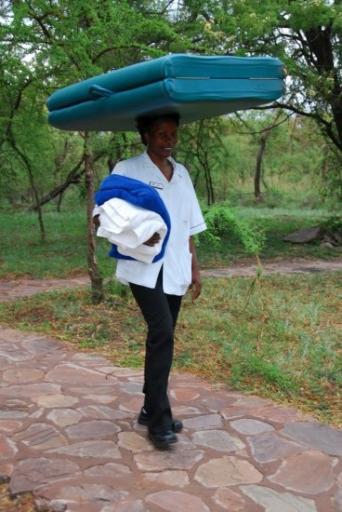Terry's massage therapist at Serengeti Serena