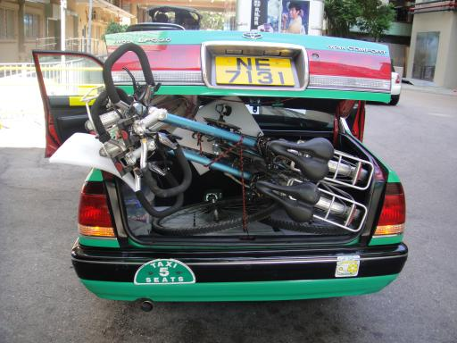 bikes in a taxi?