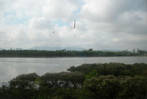 View from the train heading into Hue