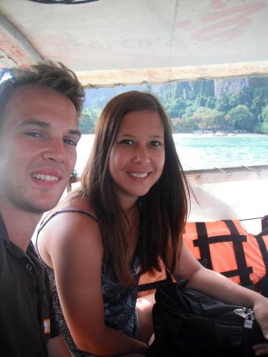 On the long tail heading to the Phi Phi ferry