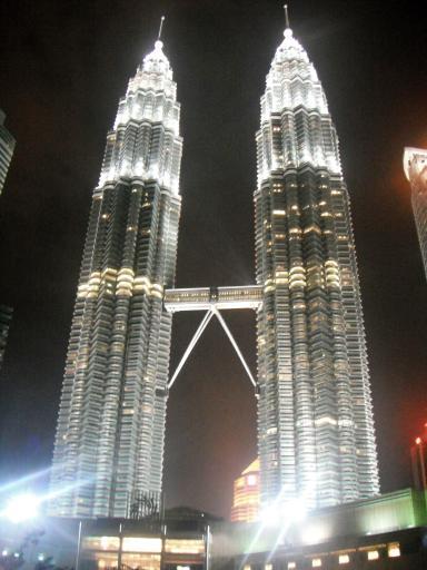 The Petronas Towers at night