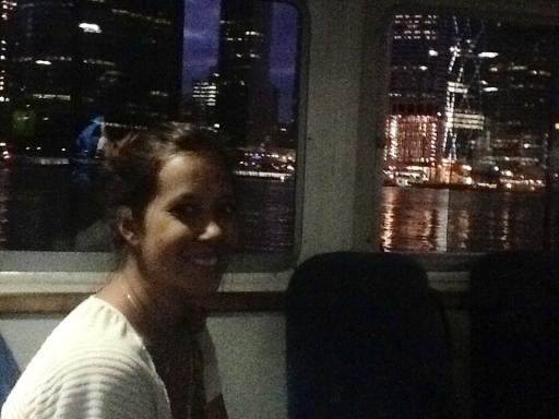 Ton on the free ferry boat in Brisbane