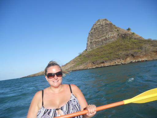 Cheryl in the back of the kayak