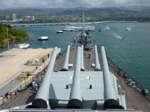 14. Pearl Harbour - Front of the Battleship