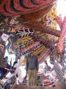David underneath a mosaic arch in the pagoda