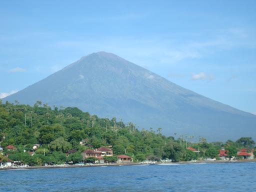Bali's volcano as went to Gili Air by boat