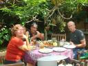 Karen, Zuby and Mike at lunch