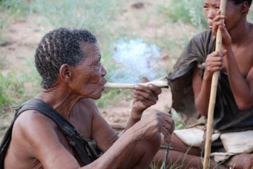 Bushmen Smoking