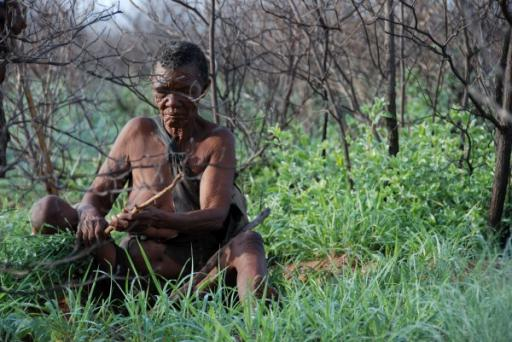Elder Woman Digging