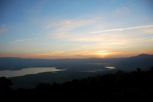 Sunset over the Crater