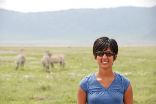 Namita Haning with the Wildlife