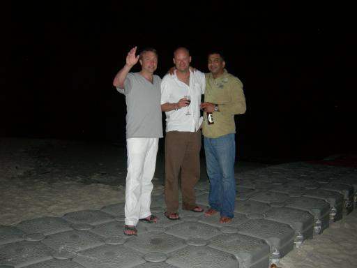 Raya - Dave, Rupesh and Wim on the dock