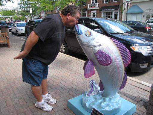 Richie Kissing A Fish-Downtown Grosse Pointe Woods