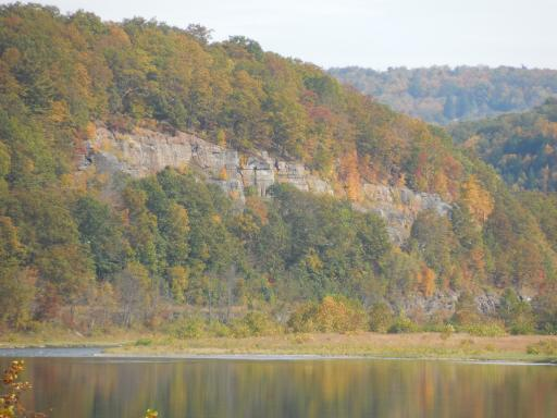 Cliff Along The Delaware River