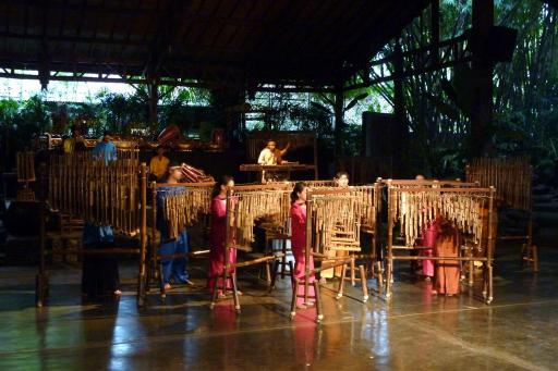 Heel veel bamboe-instrumenten