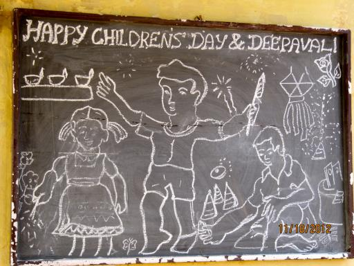 A lovely drawing for Deepavali