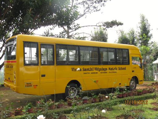 School bus at Shanti ashram