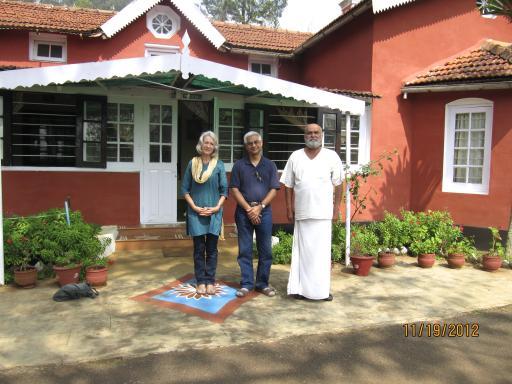 With Mr. Ramesh at Shanti ashram
