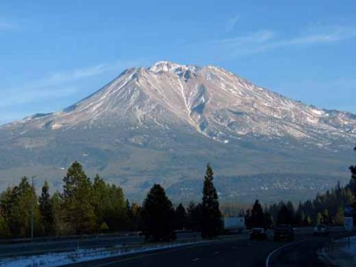 So surprised that Mt Shasta wasn't all white.