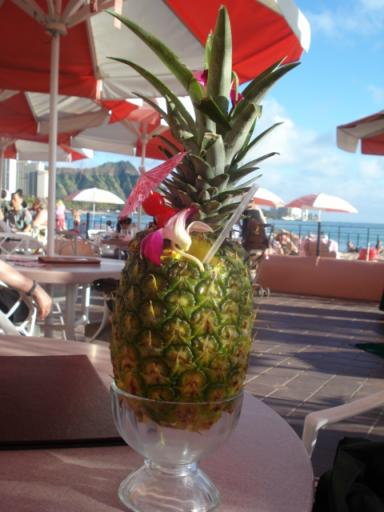 cocktail in a pineapple,what more could you want!!