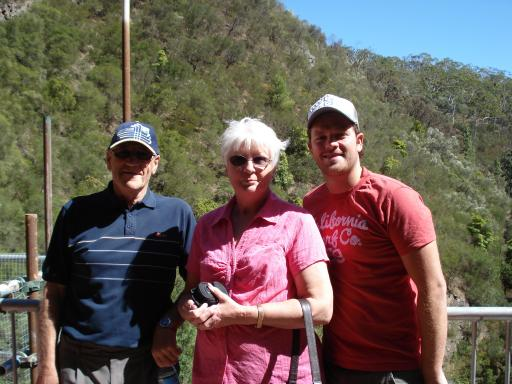 Andy, Uncle Tony & Auntie Lynne at waterfall gully