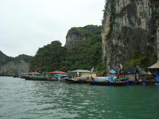 Schwimmendes Fischerdorf Halong Bay