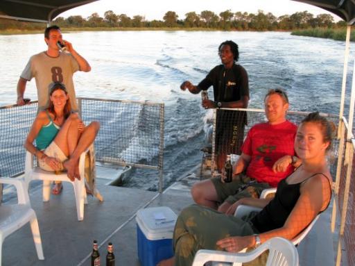Birthday sunset cruise on the Okavango