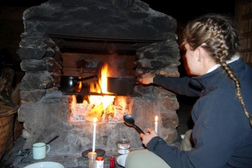Cooking dinner on Mount Mulanje