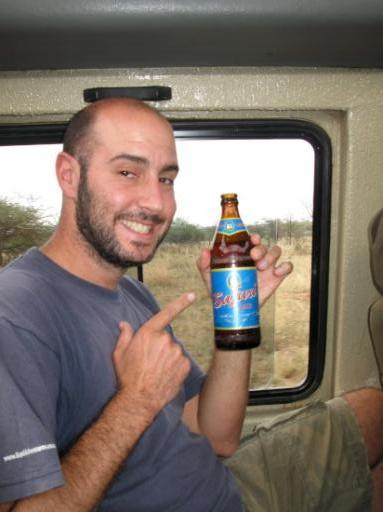 On Safari with Safari - my fave beer