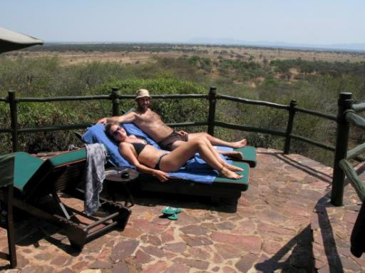 Sun-tanning on the Serengeti