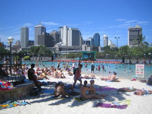 Brisbane centre  man made beach  Trace amp; Kath39;s Excellent